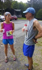 This was how we spent our anniversary...on a 10 mile trail run.