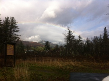 Rainbow at the base of Rooster Comb 11012015